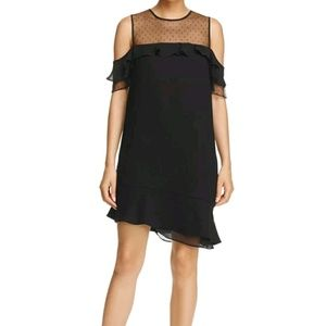 NANETTE LEPORE 10 black cold shoulder dress